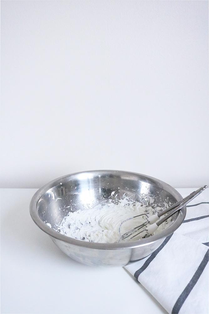 Voici le beurre corporel une fois solidifié et fouetté.