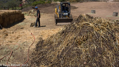 Biodynamic Compost at One Gun Ranch-forkflift