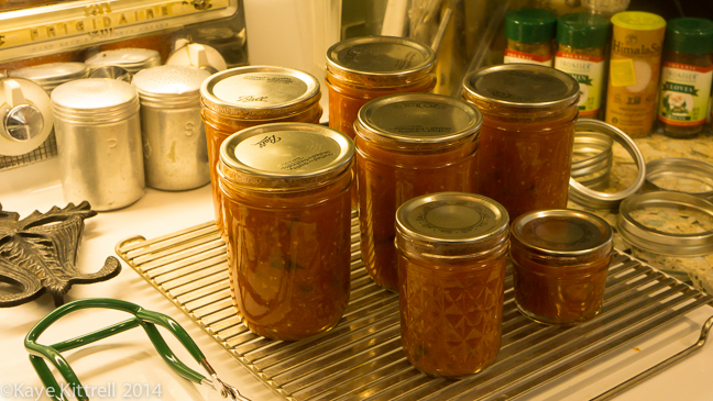 My Tomato Cooking, or How I Got Around the Canning Thing-jars of sauce