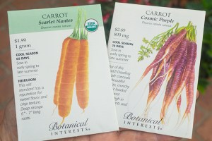 Order Carrot Seeds!