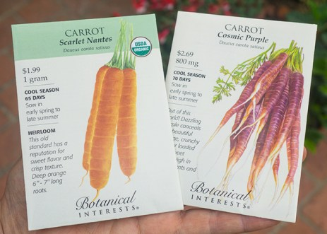 Harvesting Carrots - seed pack