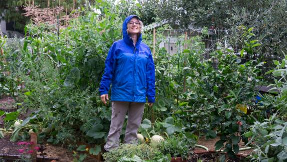 An Ode to Rain - Kaye in garden