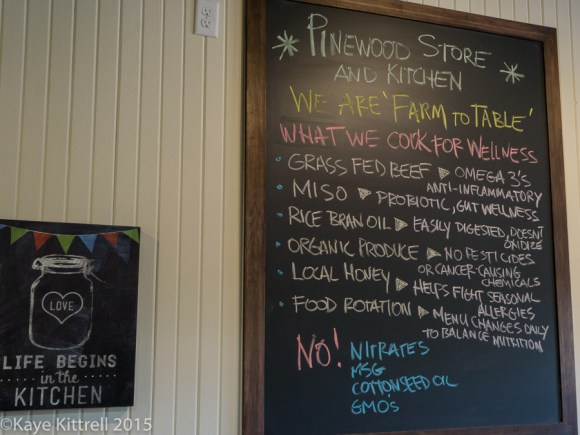 Files from the Road: Farm to Table in Pinewood - chalkboard