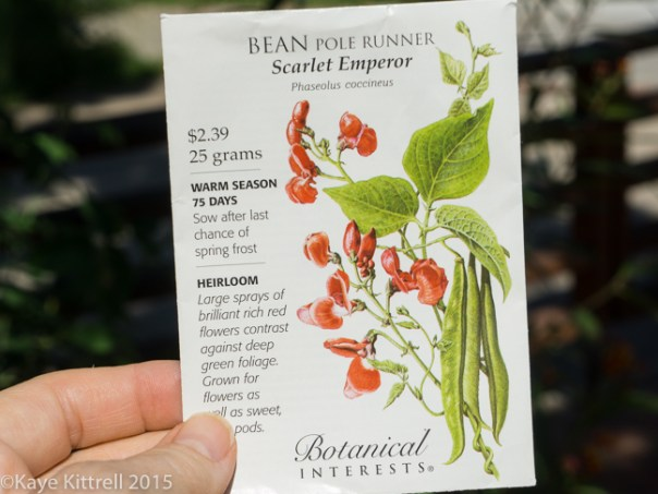 Supreme Scarlet Emperor Beans - seed packet