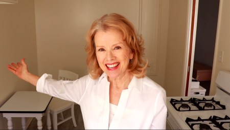 Kaye Kittrell in white kitchen
