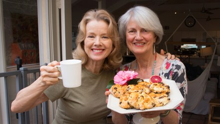 Kaye and Hazel with scones