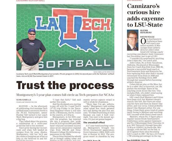Trust the process: Montgomery's vision comes full circle for Tech