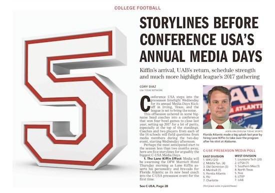 5 storylines for Conference USA Media Days