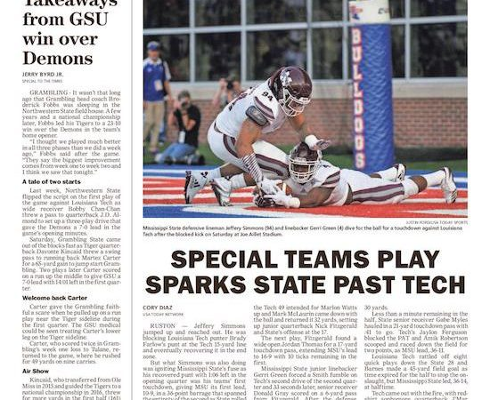 Mississippi State smothers Louisiana Tech