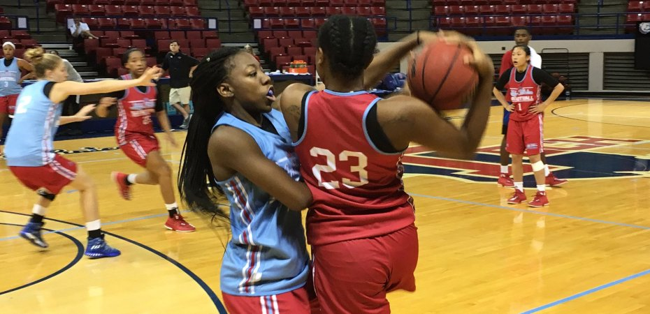 Lady Techsters open official team workouts