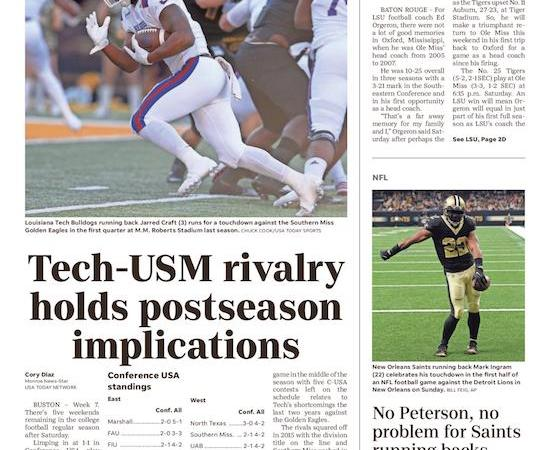 Southern Miss rivalry has postseason significance to Louisiana Tech