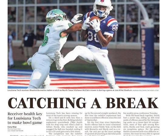 Healthy receiving corps gives La. Tech a boost