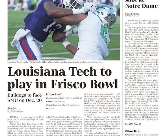 Louisiana Tech receives fourth straight bowl bid to end 'nervous' selection day