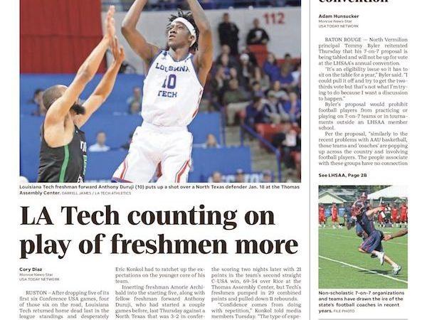 Roles expand for Louisiana Tech freshmen