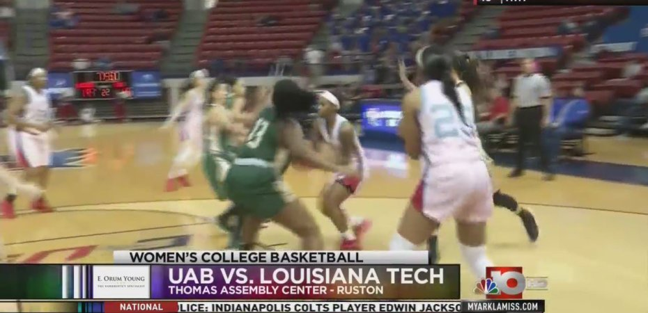 Lady Techsters lose the battle of the boards in defeat to UAB