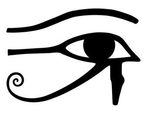 occhio di horus vettori