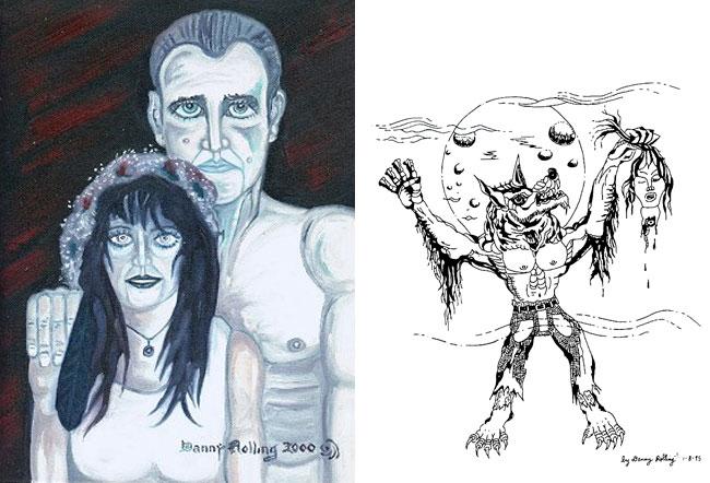 I disegni del serial killer Danny Rolling