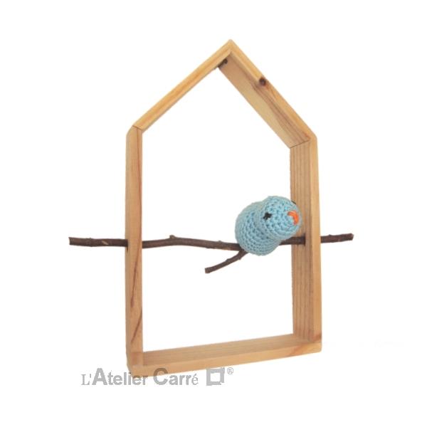 etagere-decorative-maison-oiseau-bleu-clair