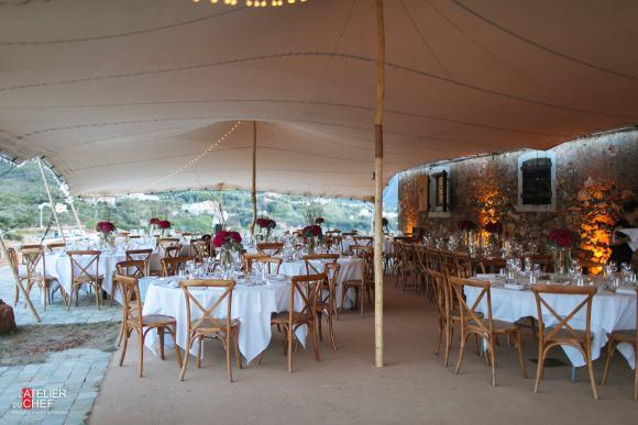 Mariage à la tour de Galéria - L'Atelier du Chef - Traiteur Corse