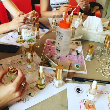 atelier parfum enterrement de vie de jeune fille Paris