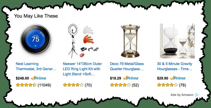 Amazon native ads example