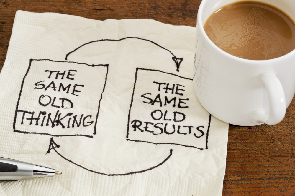negative thinking -- key goal toips