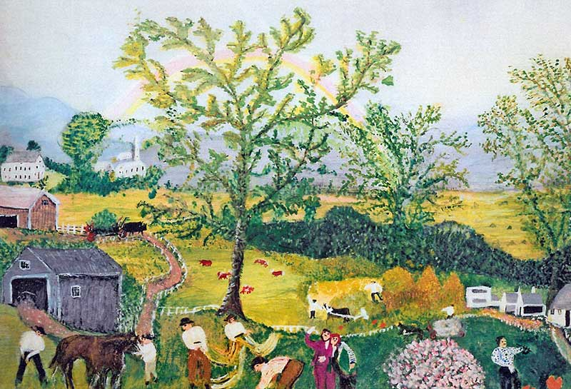 """Grandma Moses: """"Life is what we make it, always has been, always will be."""""""