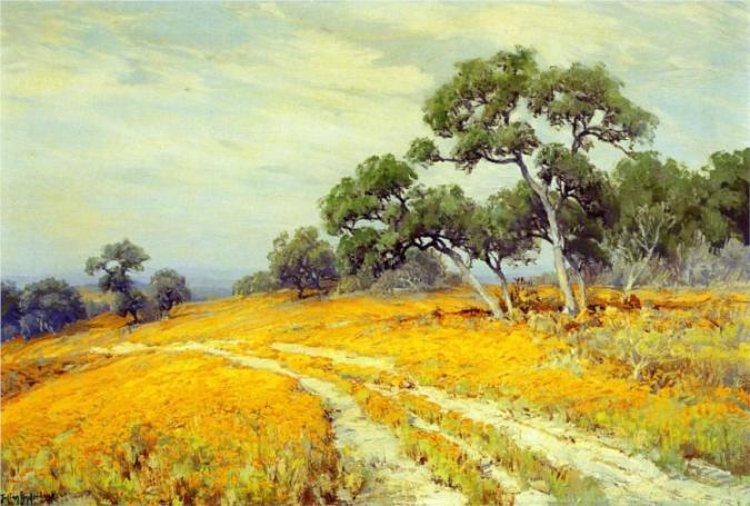 Landscape with Coreopsis by Robert Julian Onderdonk