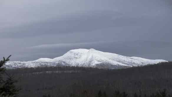 Mt. Mansfield, Vermont's highest mountain, in winter