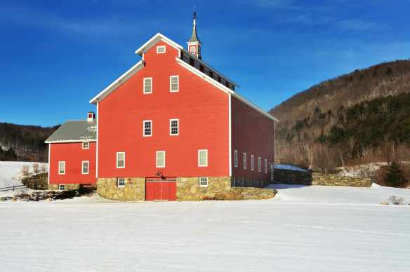 Big red Vermont barn—what cow would not love that home?