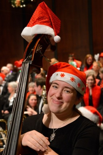 Musician in love with Christmas. We can't help but be inspired by a person radiating affection as the year draws to a close.