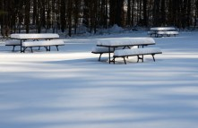 When left alone, the snow haunts us with visions of warm-weather activities.