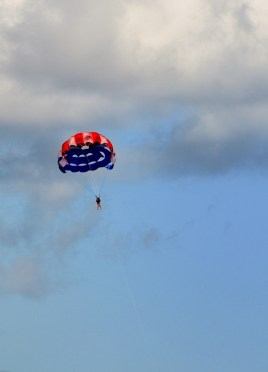 Parasailing at the Great Stirrup Cay.