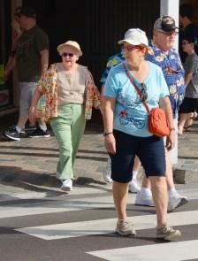 Cruise guests in Nassau.