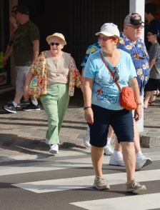 Cruise guests in Nassau.
