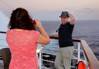 Making memories of the cruise.
