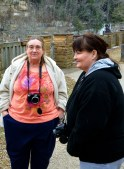 Visiting Cumberland Falls, local women bring their boys who need to burn energy.