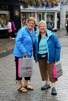 Kathy (left) and Barbara (right) near the end of their shopping trip in Galway.