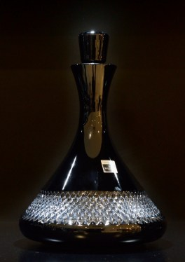 A decanter for sale at the Waterford store.