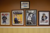The walls at the Eisenhower Center display memorabilia donated by veterans living at The Villages
