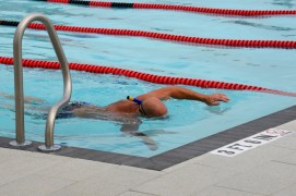 Lap swimming at the Eisenhower Center's sports pool