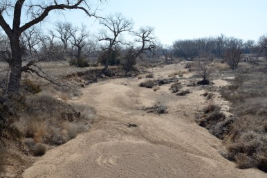 A dry creek bed in western Kansas