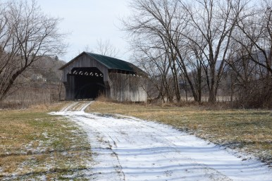 Covered bridge on a tributary of the Lamoille, before the rain and flood, Feb. 19