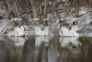 On the banks of the Lamoille, after the waters receded on Saturday, Feb. 27