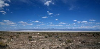 A small portion of Sevier Lake in the Sevier Desert, Utah. Usually a dry lake.