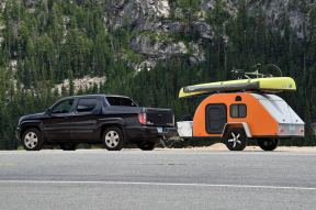 This rig belongs to a man traveling alone in the West. He looks newly retired or on an extended vacation (or both).