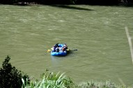 Rafting down western rivers is now a common business for locals and an attraction for tourists.
