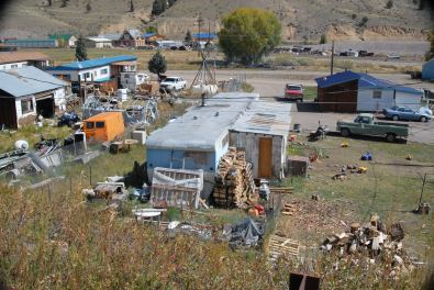 Mobile home parks are common in many traditional western towns.