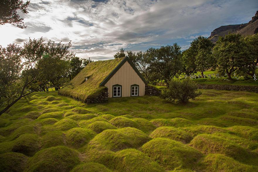 maison Hofskirkja, Islande