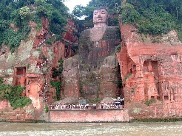 monument-Bouddha géant de Leshan, Chine